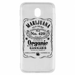 Чохол для Samsung J7 2017 Cannabis label