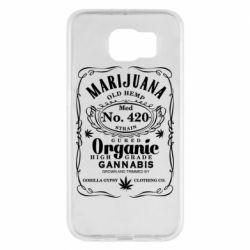 Чохол для Samsung S6 Cannabis label