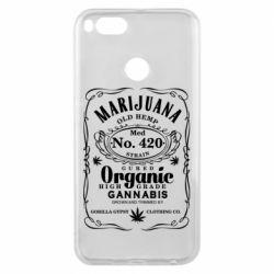 Чохол для Xiaomi Mi A1 Cannabis label