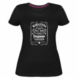 Жіноча стрейчева футболка Cannabis label