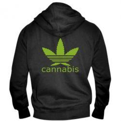 Чоловіча толстовка на блискавці Cannabis