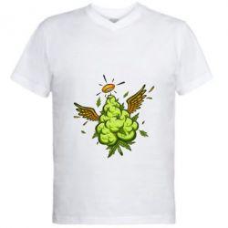 Чоловіча футболка з V-подібним вирізом Cannabis