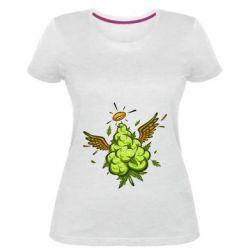 Жіноча стрейчева футболка Cannabis