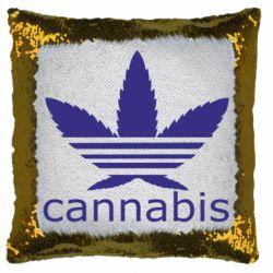 Подушка-хамелеон Cannabis