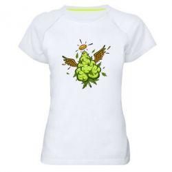 Жіноча спортивна футболка Cannabis