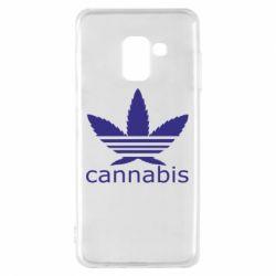 Чохол для Samsung A8 2018 Cannabis