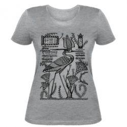 Женская футболка Цапля