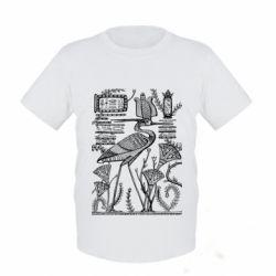 Детская футболка Цапля