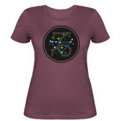Женская футболка Capricorn constellation