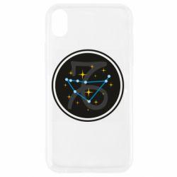 Чехол для iPhone XR Capricorn constellation