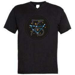 Мужская футболка  с V-образным вырезом Capricorn constellation