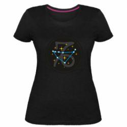 Женская стрейчевая футболка Capricorn constellation