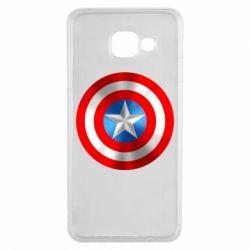 Чехол для Samsung A3 2016 Captain America 3D Shield