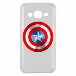 Чехол для Samsung J2 2015 Captain America 3D Shield