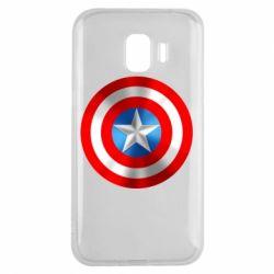 Чехол для Samsung J2 2018 Captain America 3D Shield