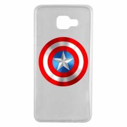 Чехол для Samsung A7 2016 Captain America 3D Shield
