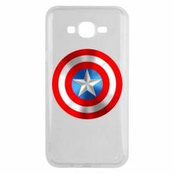 Чехол для Samsung J7 2015 Captain America 3D Shield