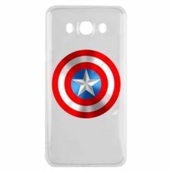 Чехол для Samsung J7 2016 Captain America 3D Shield