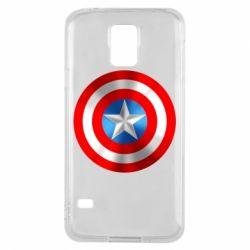 Чехол для Samsung S5 Captain America 3D Shield