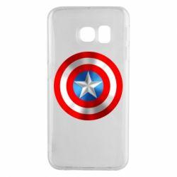 Чехол для Samsung S6 EDGE Captain America 3D Shield