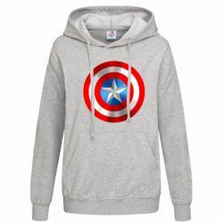 Женская толстовка Captain America 3D Shield - FatLine