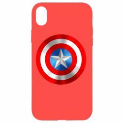 Чехол для iPhone XR Captain America 3D Shield