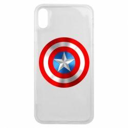 Чехол для iPhone Xs Max Captain America 3D Shield