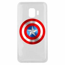 Чехол для Samsung J2 Core Captain America 3D Shield