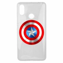 Чехол для Xiaomi Mi Max 3 Captain America 3D Shield
