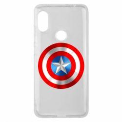 Чехол для Xiaomi Redmi Note 6 Pro Captain America 3D Shield