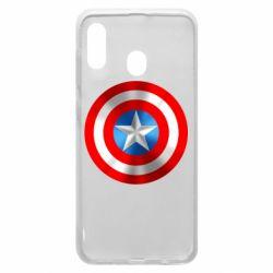 Чехол для Samsung A20 Captain America 3D Shield