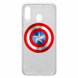 Чехол для Samsung A30 Captain America 3D Shield