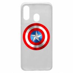 Чехол для Samsung A40 Captain America 3D Shield