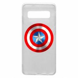 Чехол для Samsung S10 Captain America 3D Shield