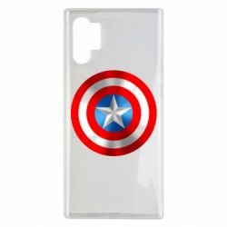 Чехол для Samsung Note 10 Plus Captain America 3D Shield