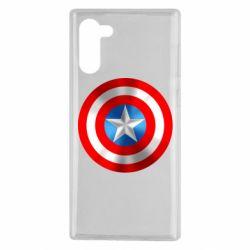 Чехол для Samsung Note 10 Captain America 3D Shield