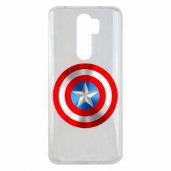 Чехол для Xiaomi Redmi Note 8 Pro Captain America 3D Shield