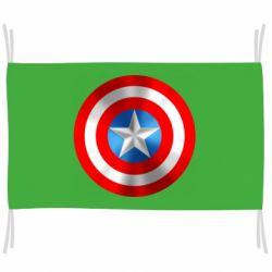 Флаг Captain America 3D Shield