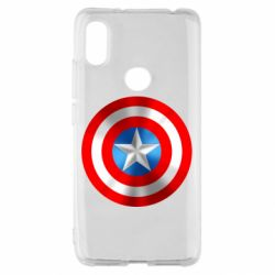 Чехол для Xiaomi Redmi S2 Captain America 3D Shield