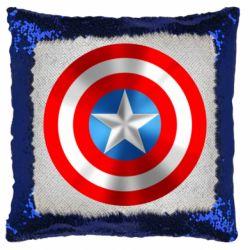 Подушка-хамелеон Captain America 3D Shield