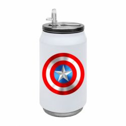 Термобанка 350ml Captain America 3D Shield