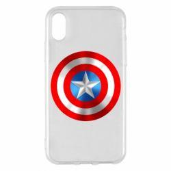 Чехол для iPhone X/Xs Captain America 3D Shield