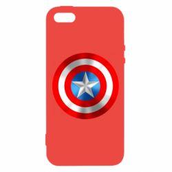 Чехол для iPhone5/5S/SE Captain America 3D Shield
