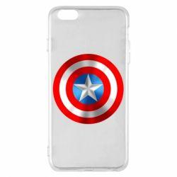 Чехол для iPhone 6 Plus/6S Plus Captain America 3D Shield