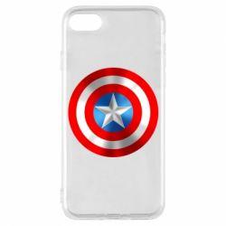 Чехол для iPhone 7 Captain America 3D Shield