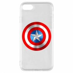 Чехол для iPhone 8 Captain America 3D Shield