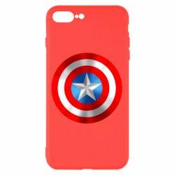 Чехол для iPhone 8 Plus Captain America 3D Shield
