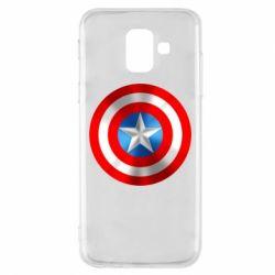 Чехол для Samsung A6 2018 Captain America 3D Shield