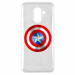 Чехол для Samsung A6+ 2018 Captain America 3D Shield
