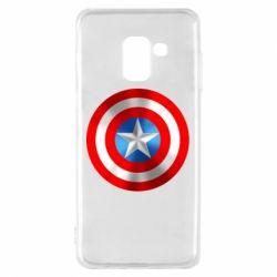 Чехол для Samsung A8 2018 Captain America 3D Shield